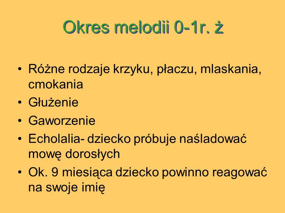 Okres melodii 0-1r.ż Okres melodii 0-1r.