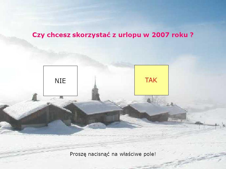 Z dniem 02.01.2007 Nasza Firma wprowadziła nowy system obliczania należnego urlopu w 2007 r.