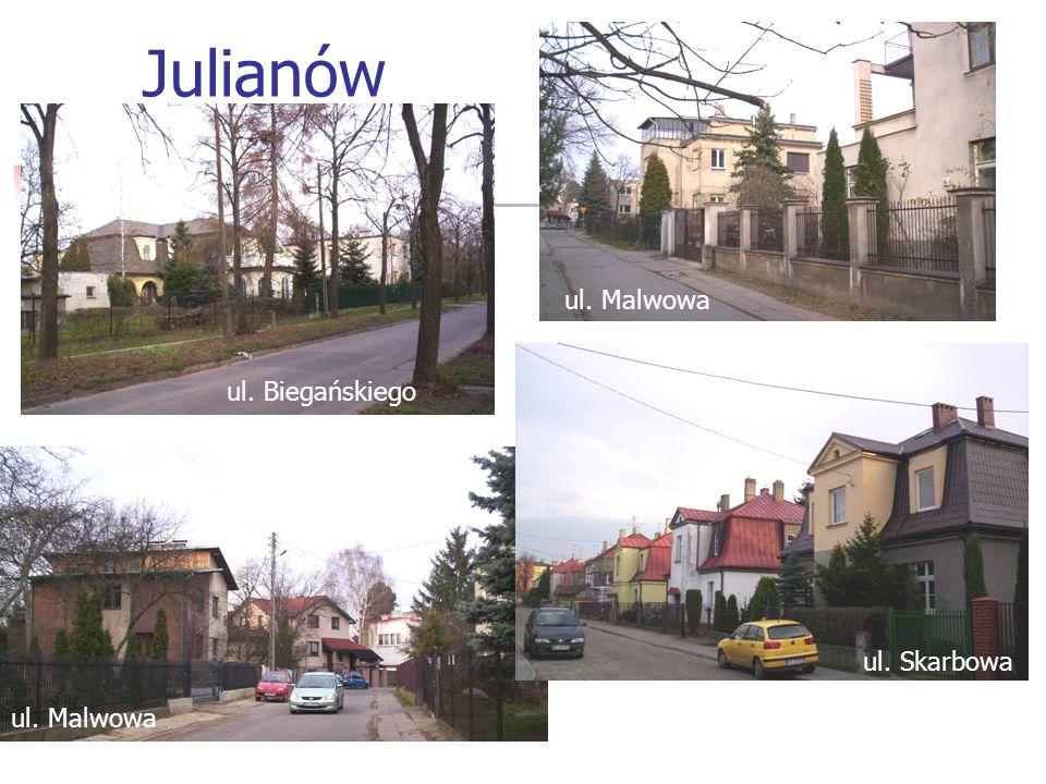 Julianów ul. Biegańskiego ul. Malwowa ul. Skarbowa ul. Malwowa