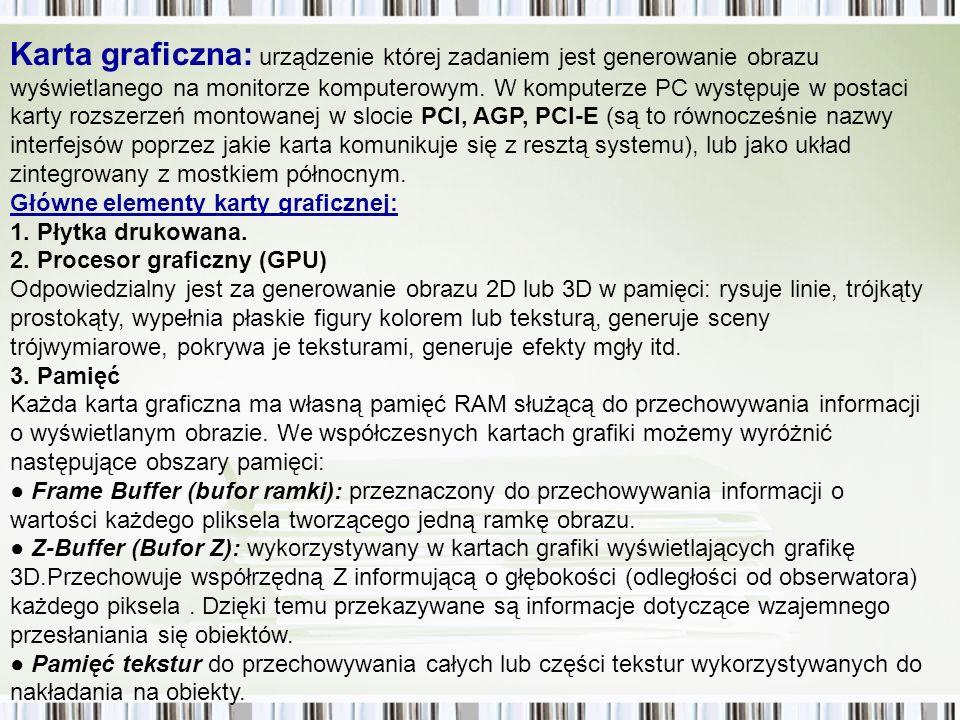Kolory gniazd i wtyków (źródło: pl.wikipedia.org) Kolor Funkcja Różowy - Analogowe wejście dla mikrofonu.