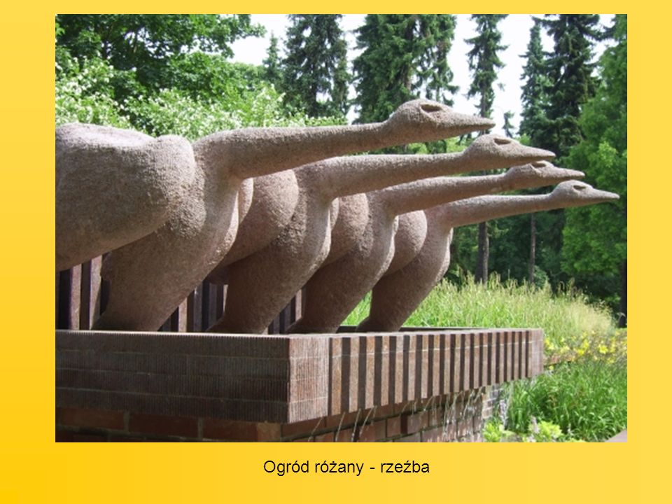 Ogród różany - rzeźba
