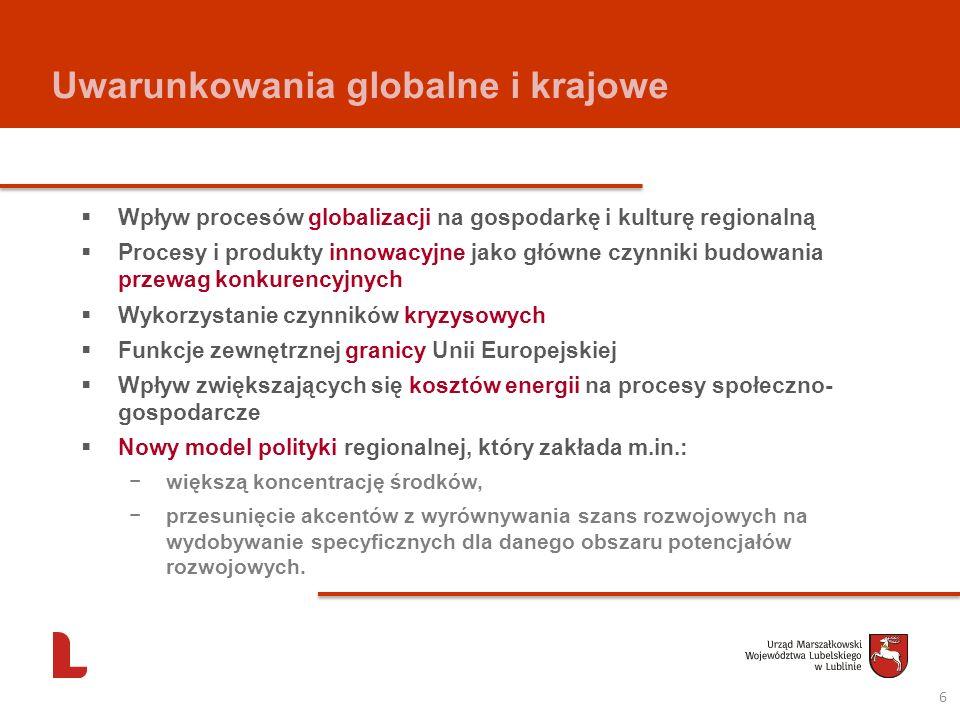 Uwarunkowania globalne i krajowe Wpływ procesów globalizacji na gospodarkę i kulturę regionalną Procesy i produkty innowacyjne jako główne czynniki bu