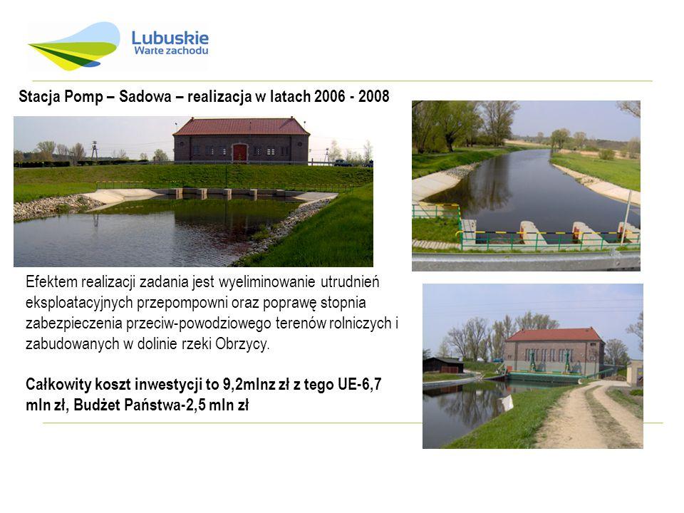 Gorzów – Jasiniec -modernizacja prawostronnego przeciwpowodziowego wału rzeki Warty w km wału 39+700 – 46+000 gm.