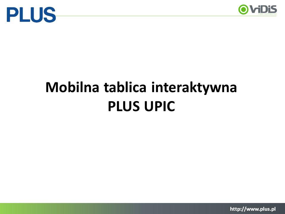 http://www.plus.pl Opis produktu Suchościeralna, magnetyczna mata stanowiąca powierzchnie tablicy Interaktywne pióro oparte na technologii ANOTO Digital PEN