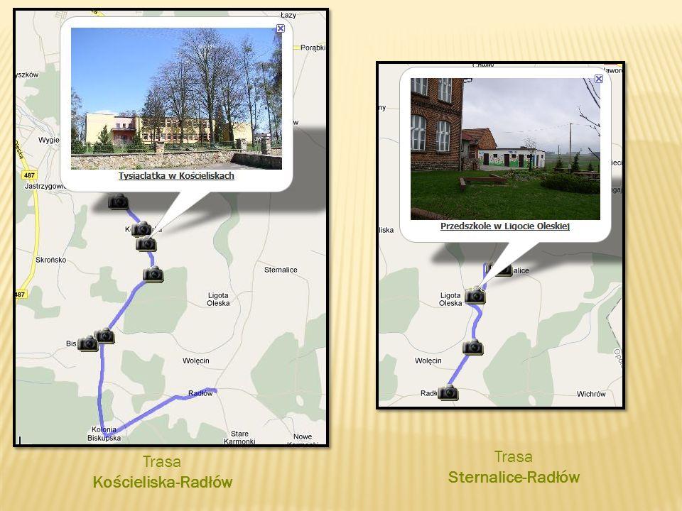 Trasa Kościeliska-Radłów Trasa Sternalice-Radłów