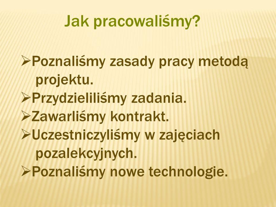 Jak pracowaliśmy.Poznaliśmy zasady pracy metodą projektu.