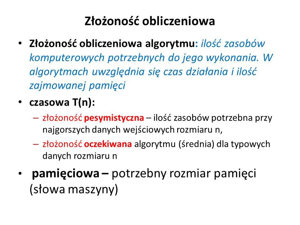 logarytmiczna T=log(n)