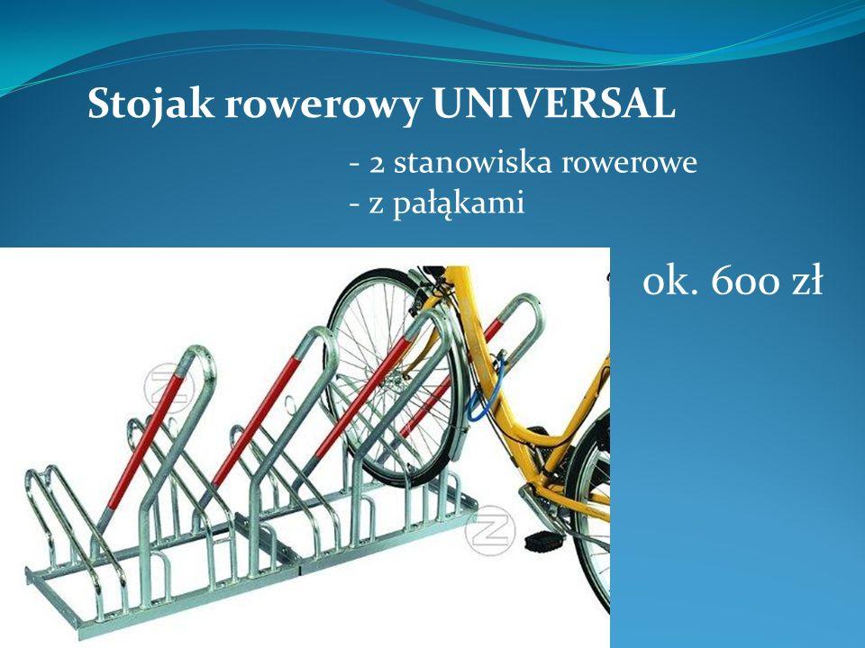 Stojak rowerowy UNIVERSAL - 2 stanowiska rowerowe - z pałąkami ok. 600 zł