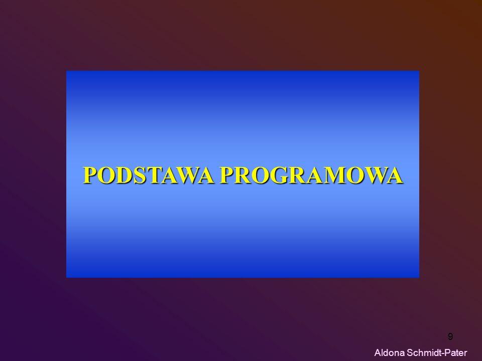9 PODSTAWA PROGRAMOWA Aldona Schmidt-Pater