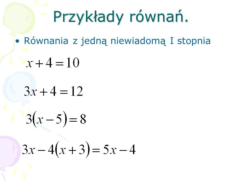 Ustal niewiadomą, oznacz ją dowolną literą i zapisz podane zdanie za pomocą równania.