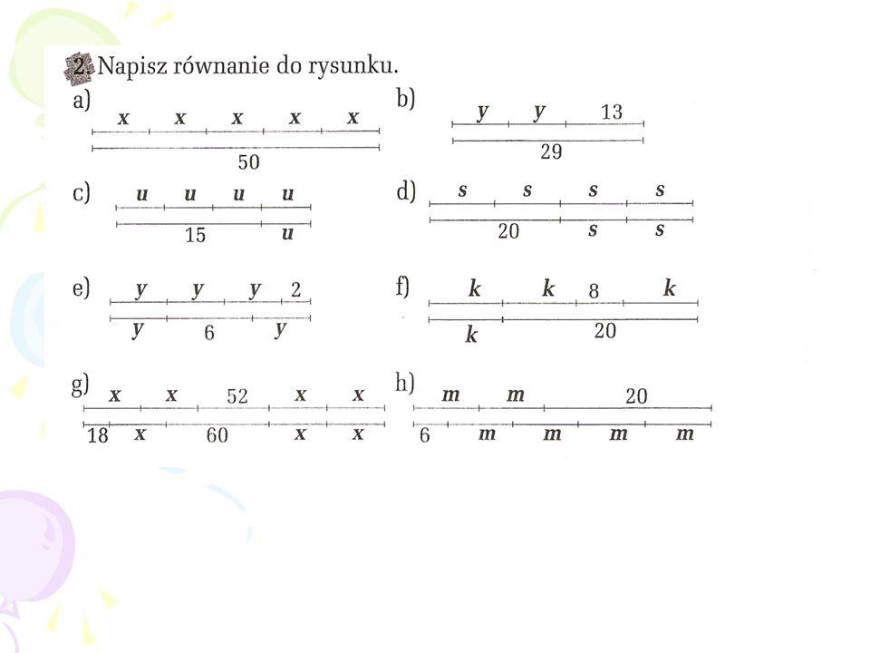 Którymi równaniami można opisać rysunek.