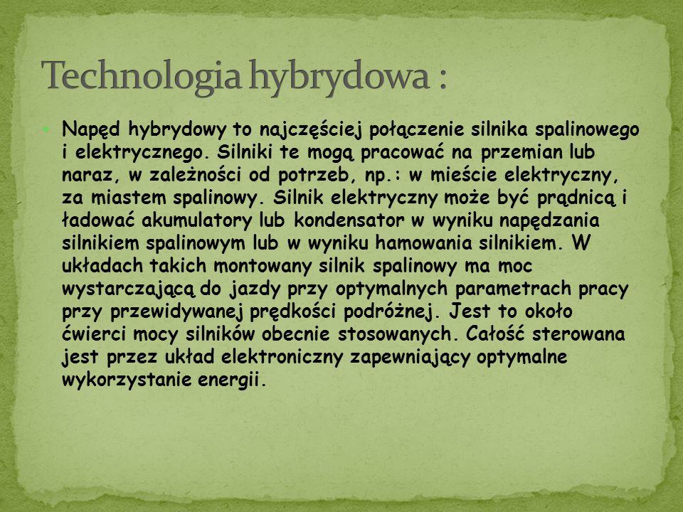 Napęd hybrydowy to najczęściej połączenie silnika spalinowego i elektrycznego.