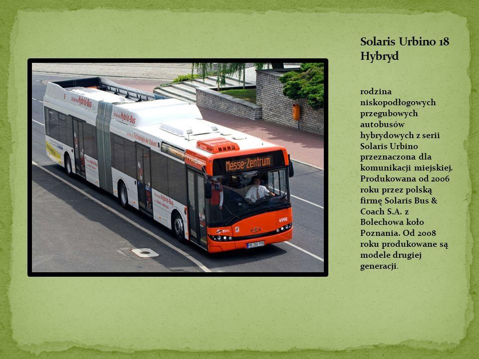 rodzina niskopodłogowych przegubowych autobusów hybrydowych z serii Solaris Urbino przeznaczona dla komunikacji miejskiej.