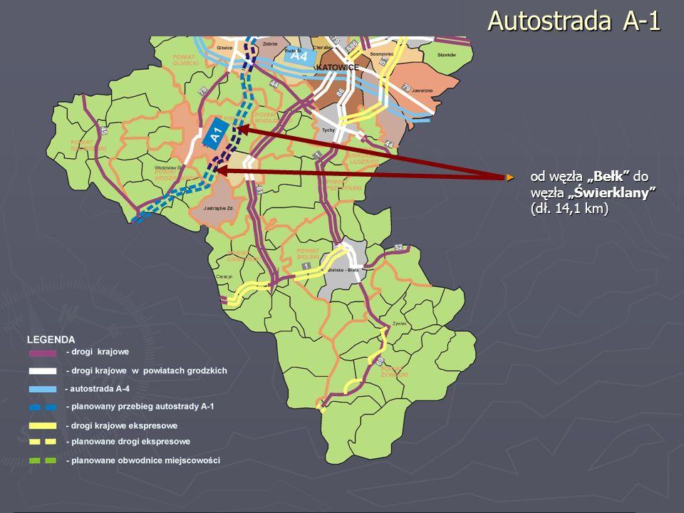 od węzła Bełk do węzła Świerklany (dł. 14,1 km) od węzła Bełk do węzła Świerklany (dł. 14,1 km) Autostrada A-1