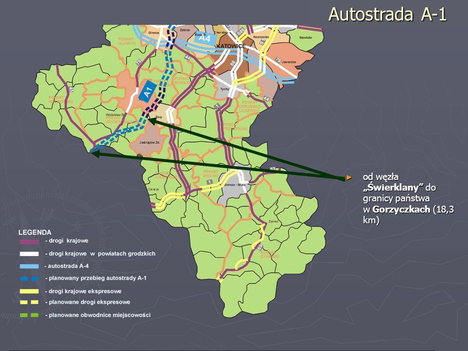 od węzła Świerklany do granicy państwa w Gorzyczkach (18,3 km) od węzła Świerklany do granicy państwa w Gorzyczkach (18,3 km) Autostrada A-1