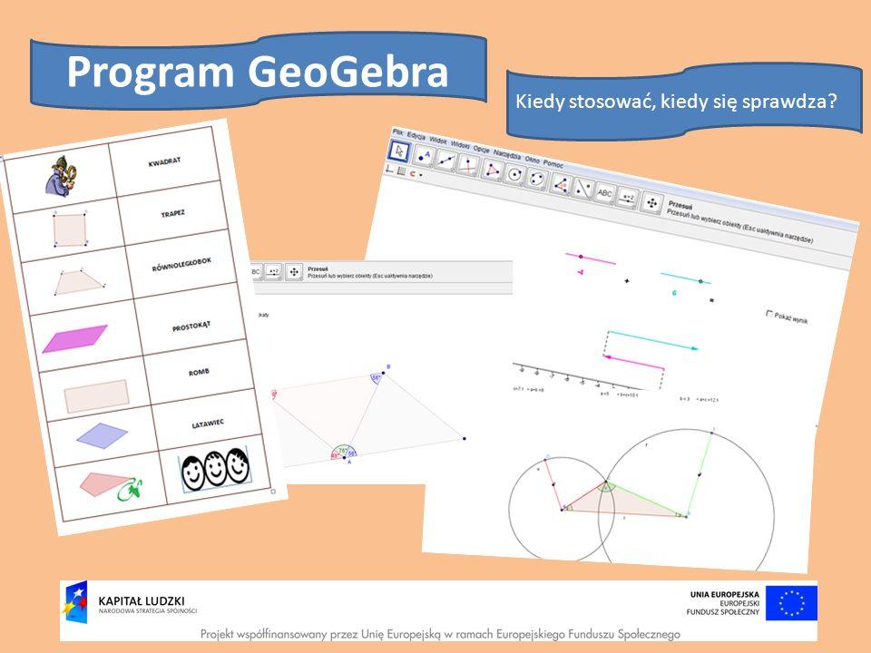 Program GeoGebra Kiedy stosować, kiedy się sprawdza?