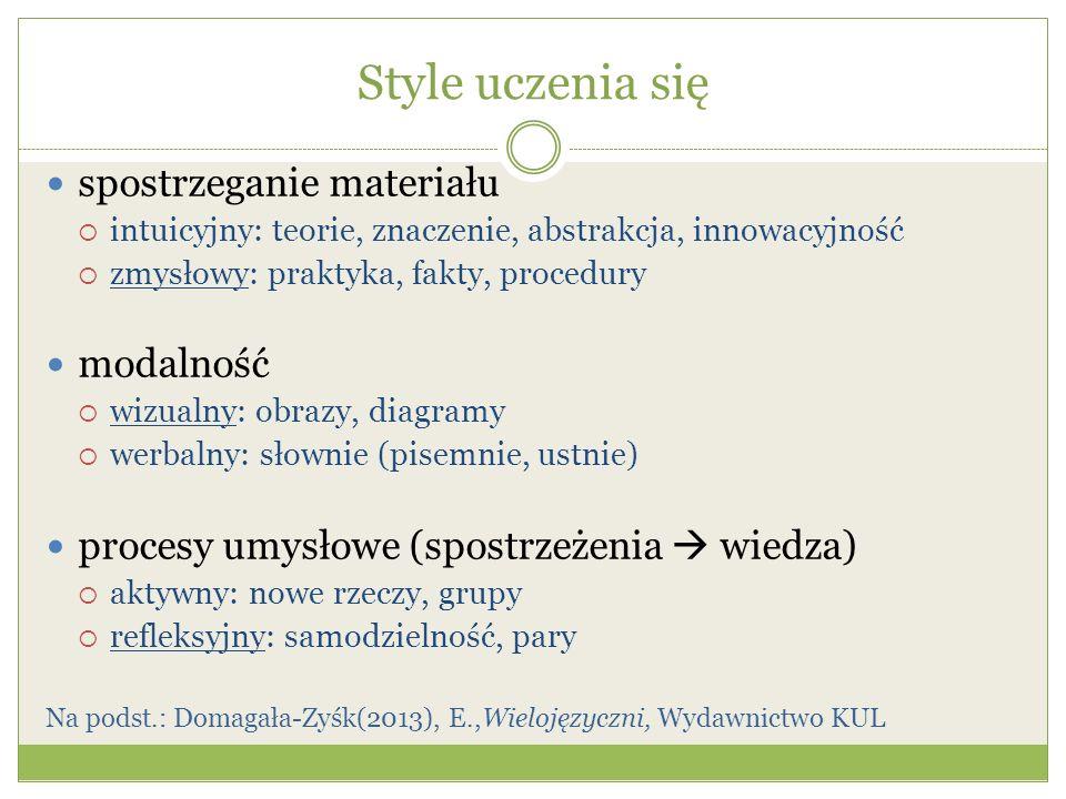 Style uczenia się c.d.