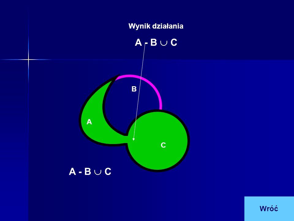 A B C Wynik działania A - B C Wróć