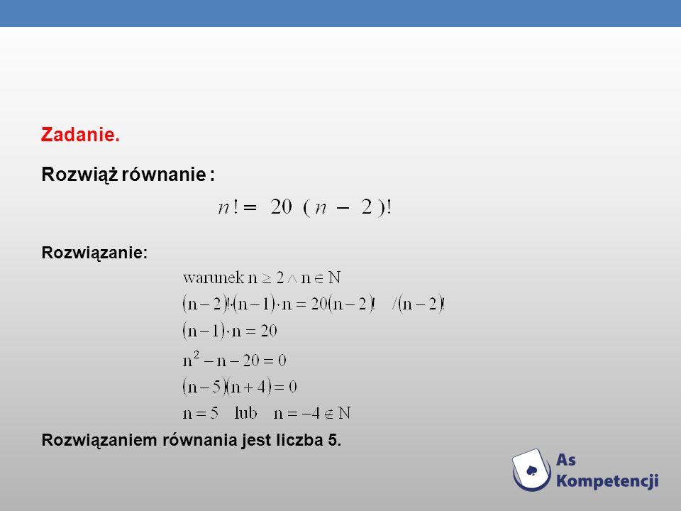PERMUTACJE Permutacją zbioru n – elementowego nazywamy każdy n - wyrazowy ciąg utworzony z wszystkich elementów tego zbioru.