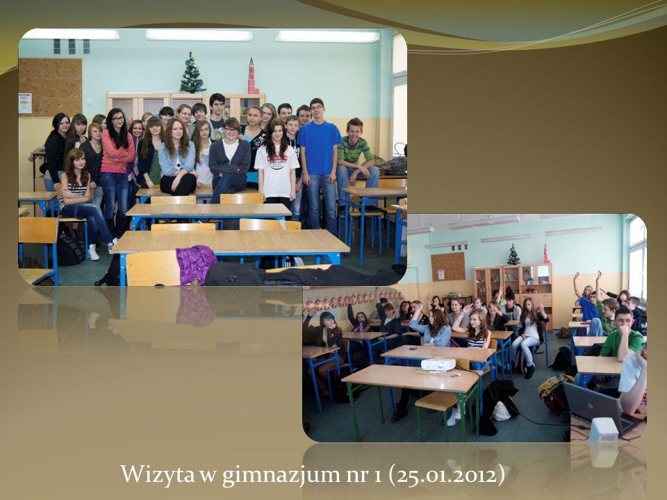 Wizyta w gimnazjum nr 1 (25.01.2012)