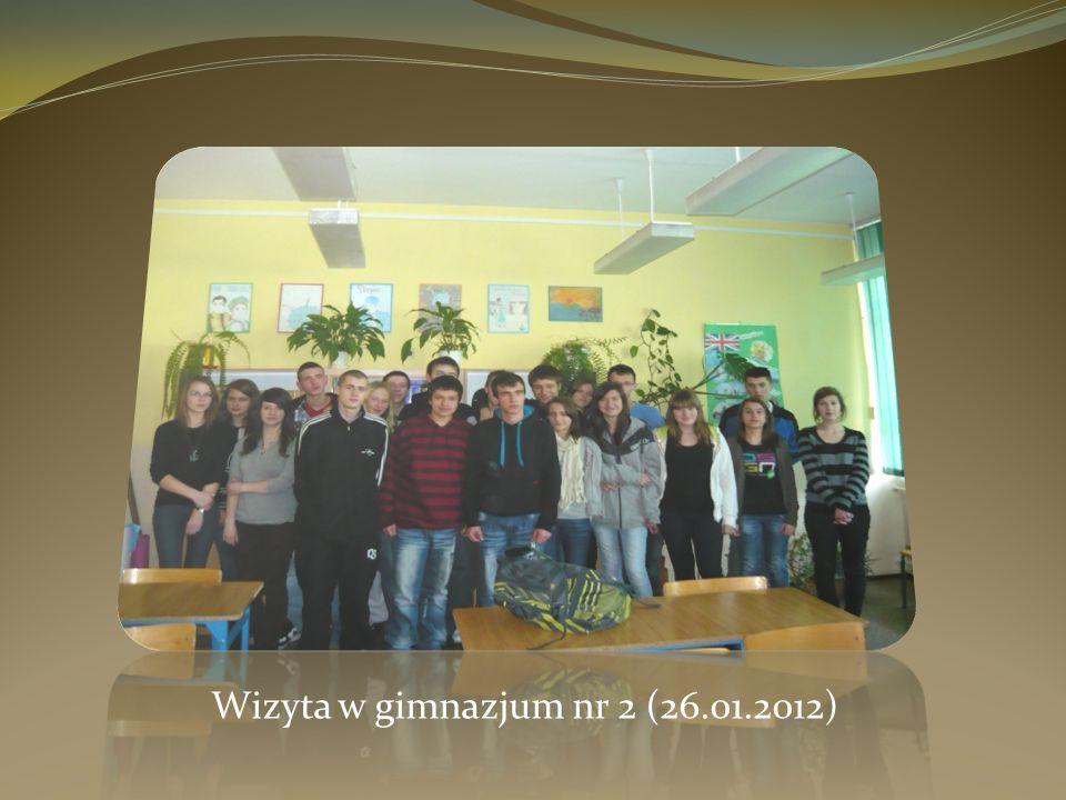 Wizyta w gimnazjum nr 2 (26.01.2012)