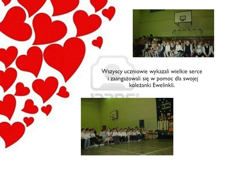 Wszyscy uczniowie wykazali wielkie serce i zaangażowali się w pomoc dla swojej koleżanki Ewelinkli.