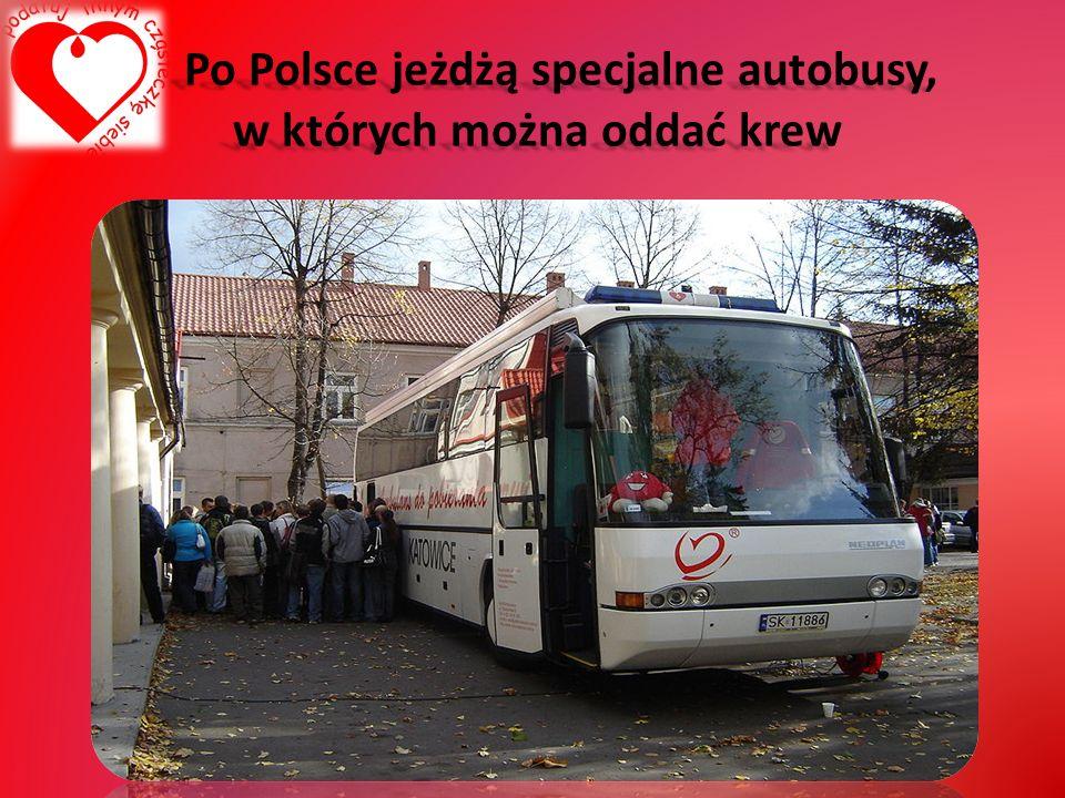 Po Polsce jeżdżą specjalne autobusy, w których można oddać krew Po Polsce jeżdżą specjalne autobusy, w których można oddać krew