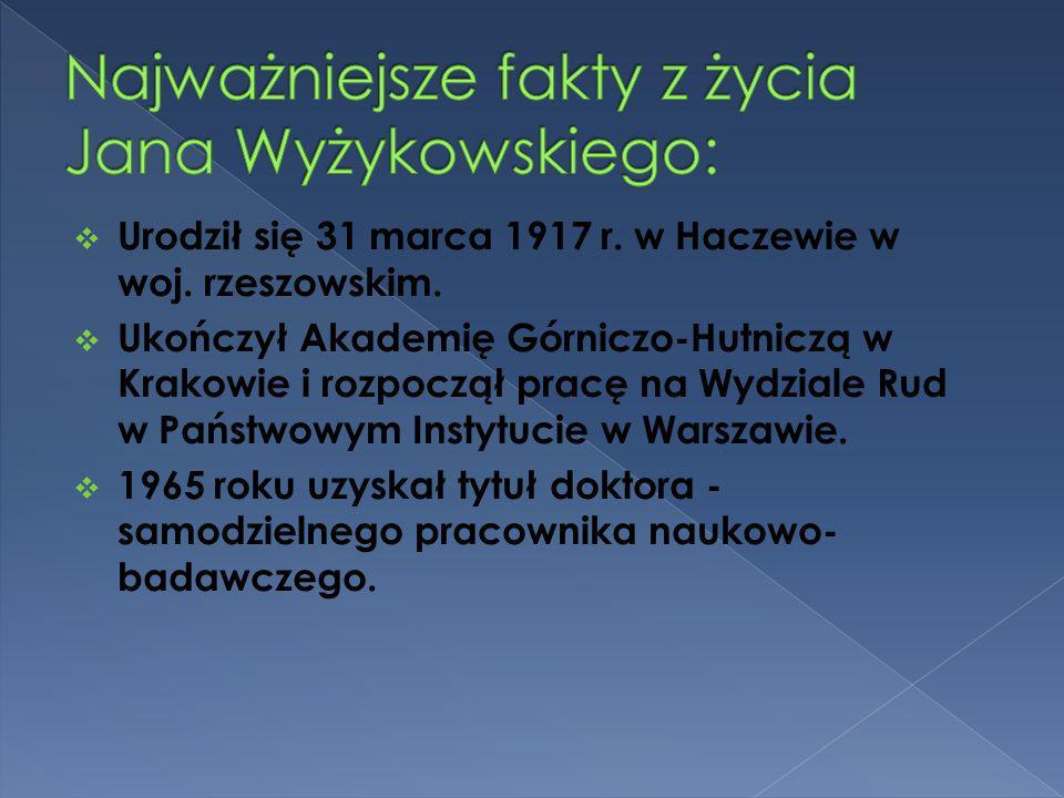 Urodził się 31 marca 1917 r. w Haczewie w woj. rzeszowskim. Ukończył Akademię Górniczo-Hutniczą w Krakowie i rozpoczął pracę na Wydziale Rud w Państwo