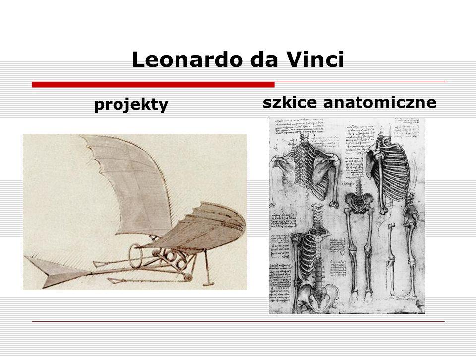Leonardo da Vinci projekty szkice anatomiczne