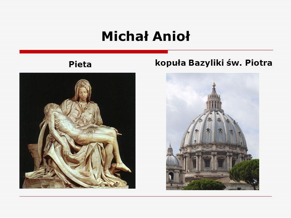 Michał Anioł Pieta kopuła Bazyliki św. Piotra