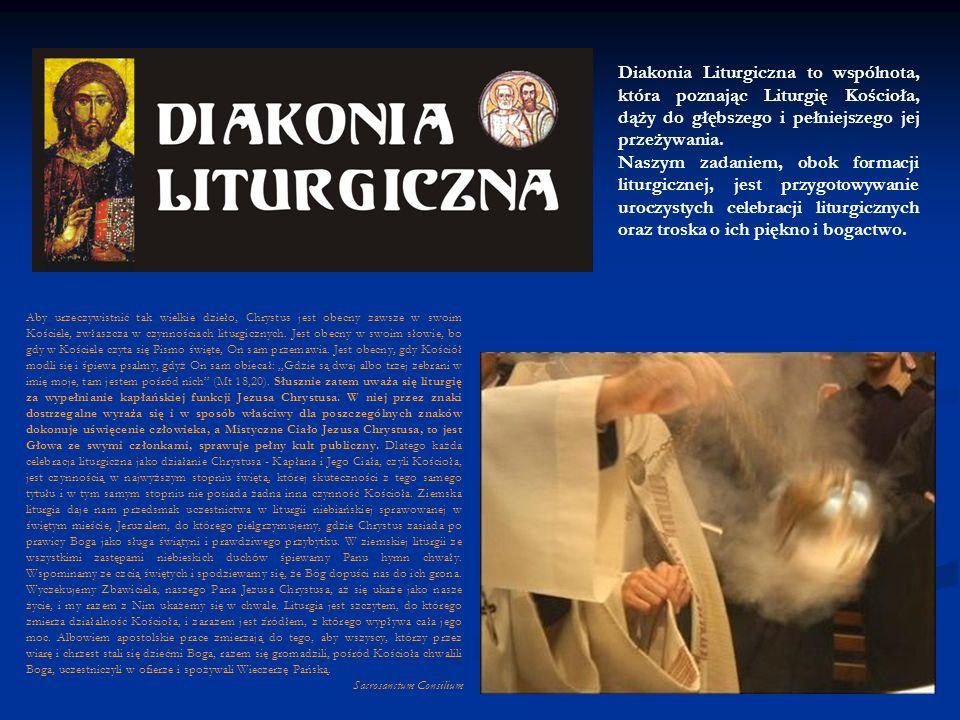 Diakonia Muzyczna jest wspólnotą, która pragnie współtworzyć liturgię dbając o jej oprawę muzyczną.