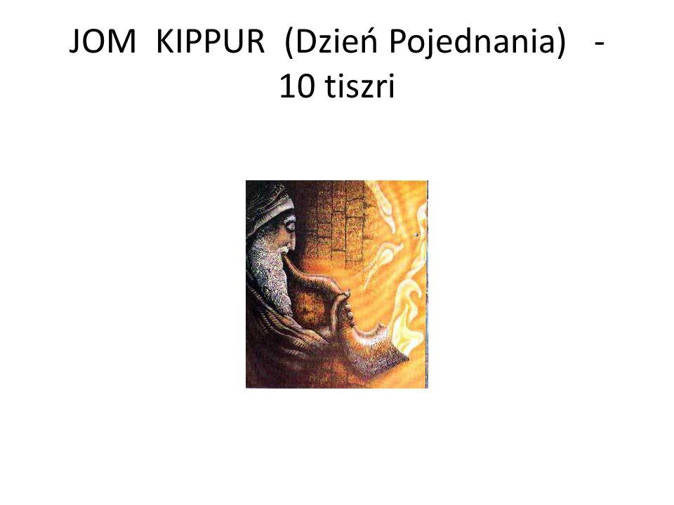 JOM KIPPUR (Dzień Pojednania) - 10 tiszri