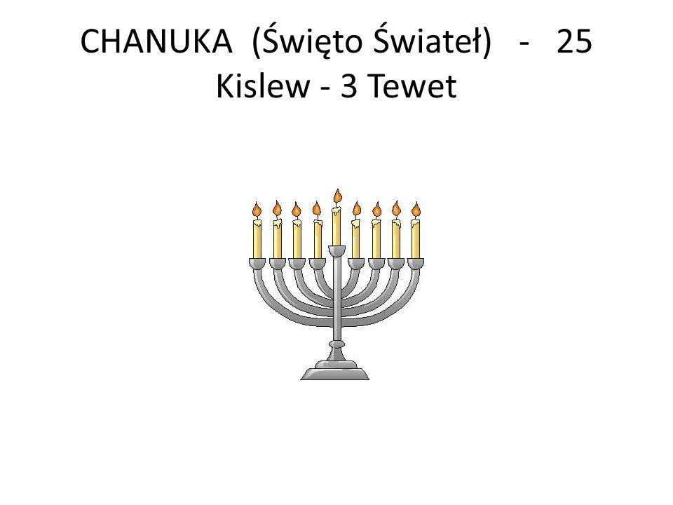 CHANUKA (Święto Świateł) - 25 Kislew - 3 Tewet
