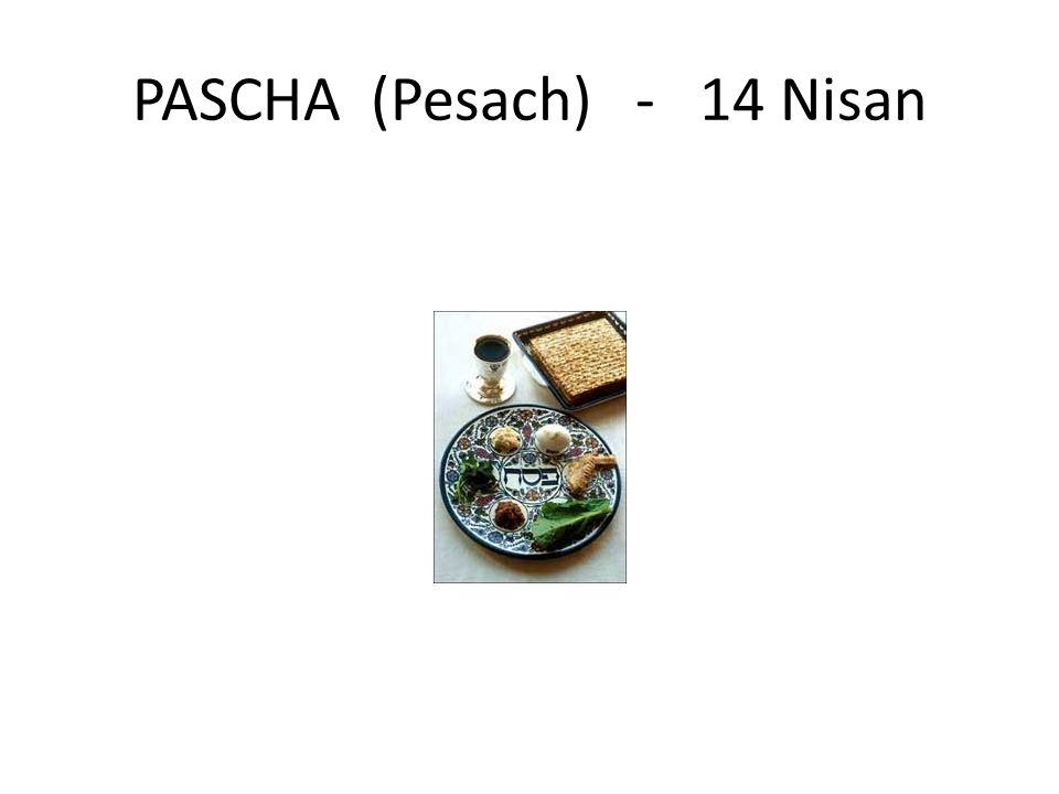 PASCHA (Pesach) - 14 Nisan
