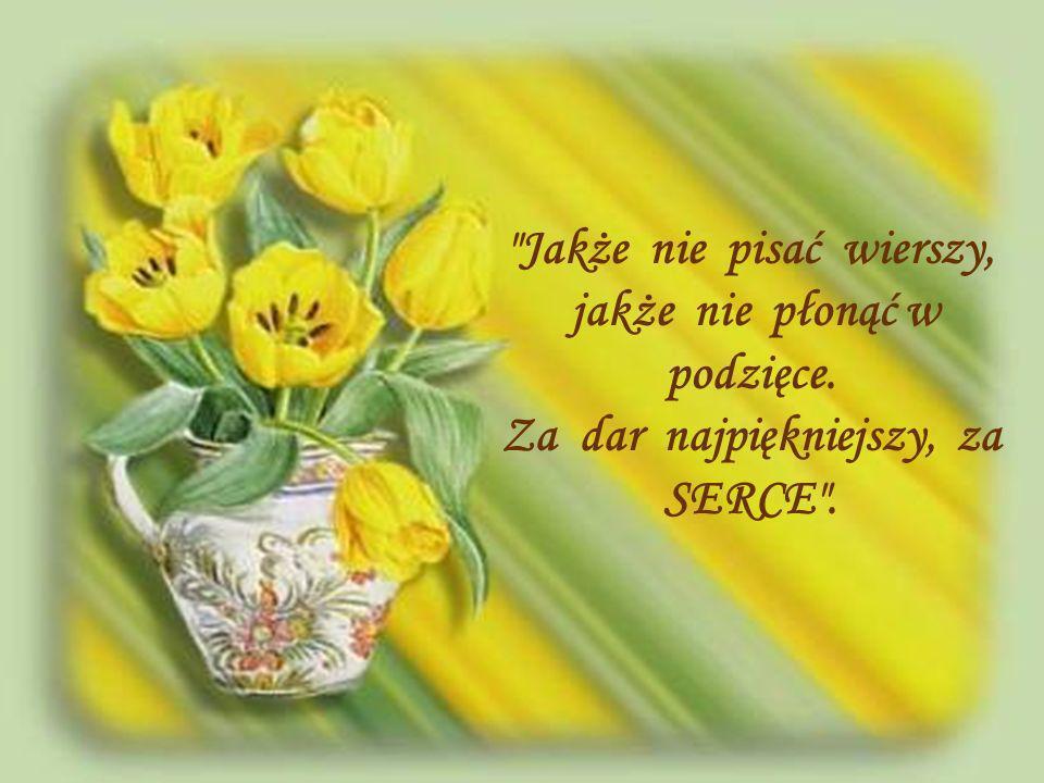 Rzekę pięknych kwiatów znamy, tulipanów, róż i bzów. Dla nauczycieli mamy, najpiękniejszy bukiet słów.
