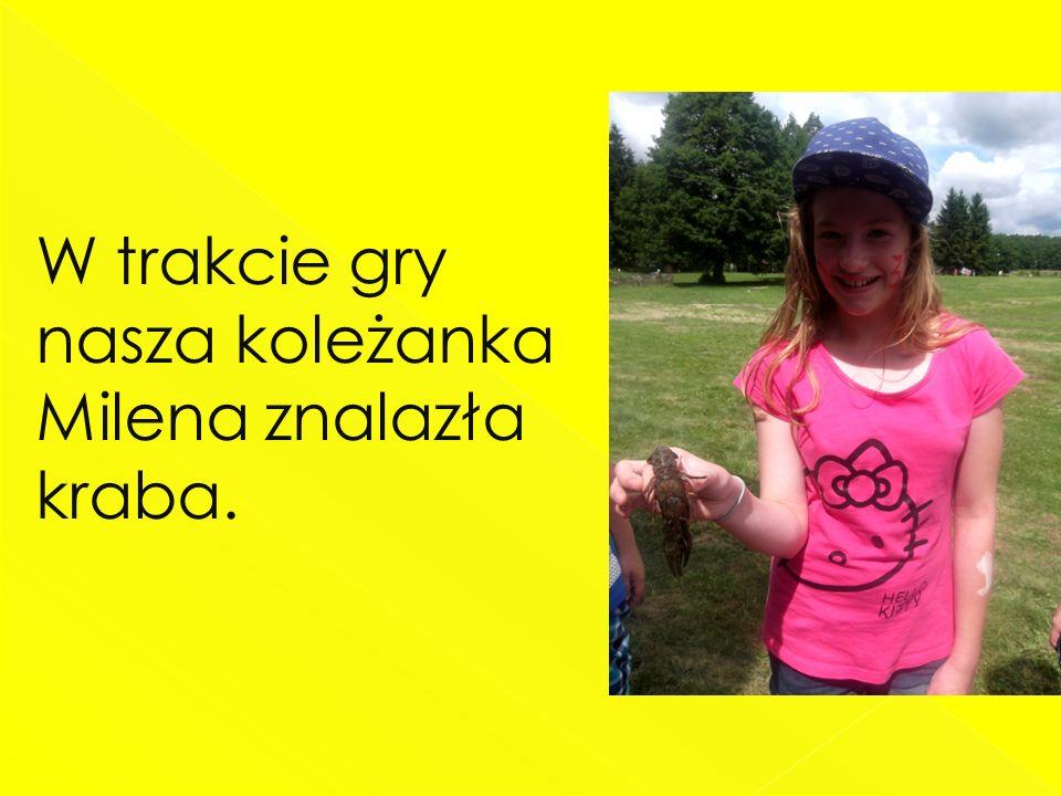 W trakcie gry nasza koleżanka Milena znalazła kraba.