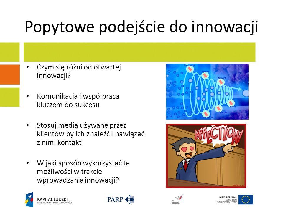 Popytowe podejście do innowacji Czym się różni od otwartej innowacji.