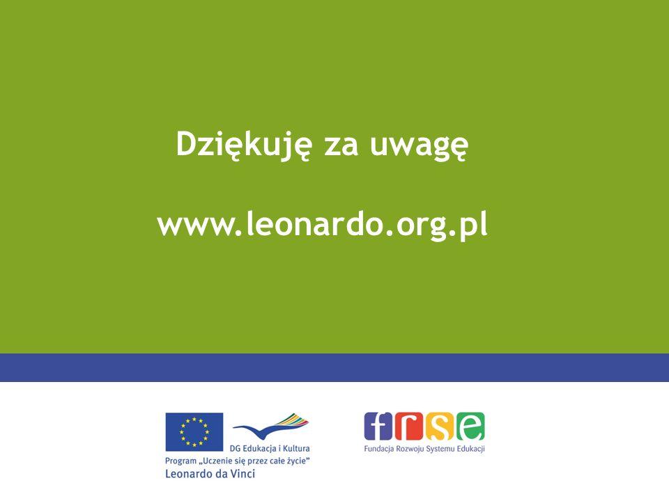 Dziękuję za uwagę www.leonardo.org.pl