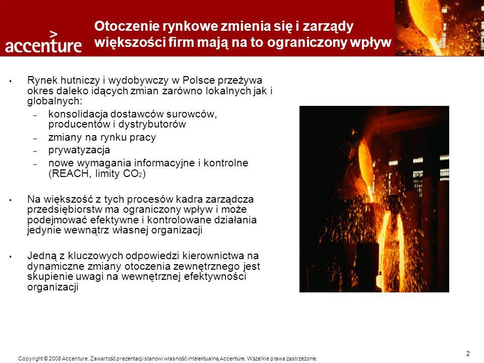 2 Copyright © 2008 Accenture. Zawartość prezentacji stanowi własność intelektualną Accenture. Wszelkie prawa zastrzeżone. Otoczenie rynkowe zmienia si