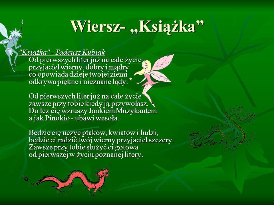 Wiersz- Książka