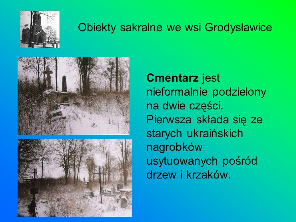 Cmentarz jest nieformalnie podzielony na dwie części. Pierwsza składa się ze starych ukraińskich nagrobków usytuowanych pośród drzew i krzaków. Obiekt