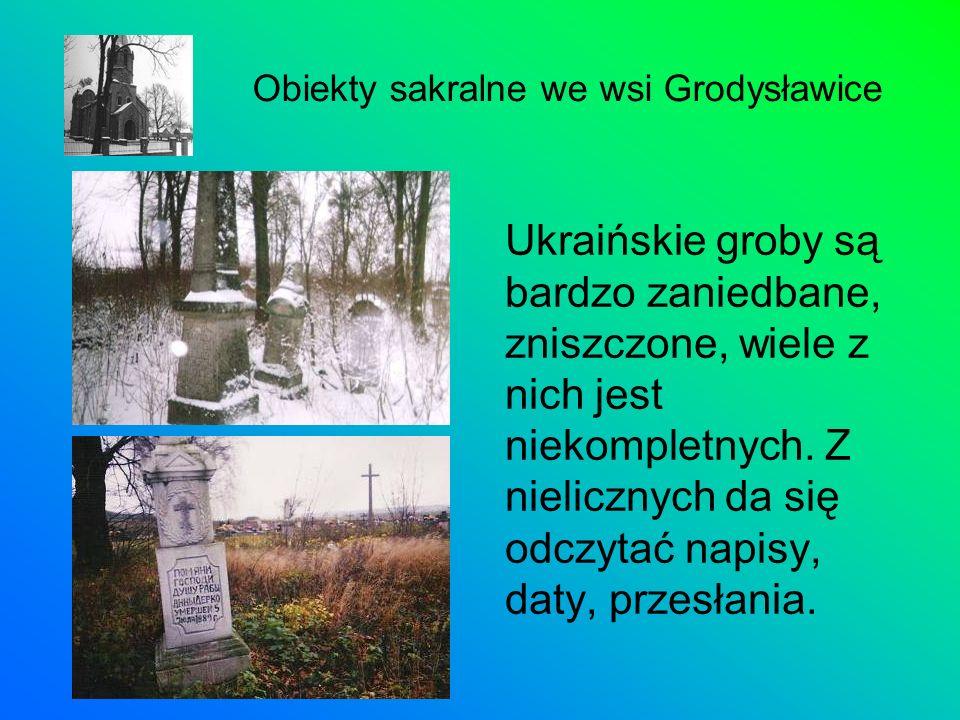 Ukraińskie groby są bardzo zaniedbane, zniszczone, wiele z nich jest niekompletnych. Z nielicznych da się odczytać napisy, daty, przesłania. Obiekty s