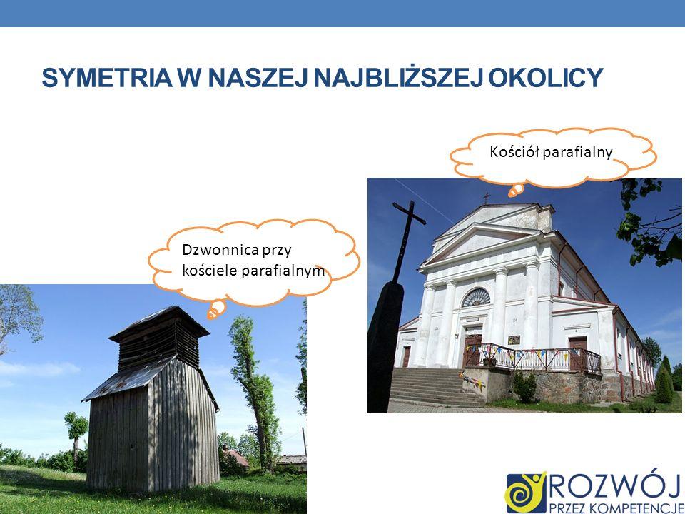 SYMETRIA W NASZEJ NAJBLIŻSZEJ OKOLICY Dzwonnica przy kościele parafialnym Kościół parafialny