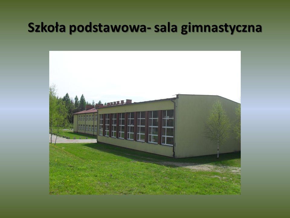 Szkoła podstawowa- sala gimnastyczna