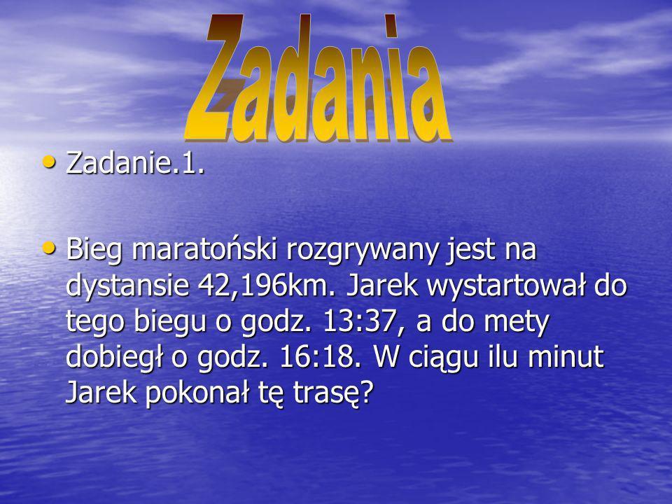 Od 13:37 do 16:18 upłynęło 2h i 41min, czyli 161min.