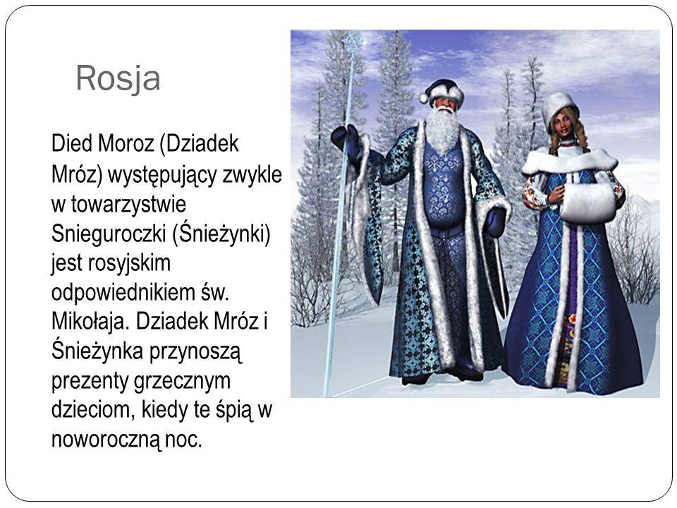Czechy i Słowacja Tu Mikulas pojawia się 6 grudnia. Spływa po złotej nitce rozciągniętej między niebem i ziemią. Towarzyszą mu anioł i czart - zły duc
