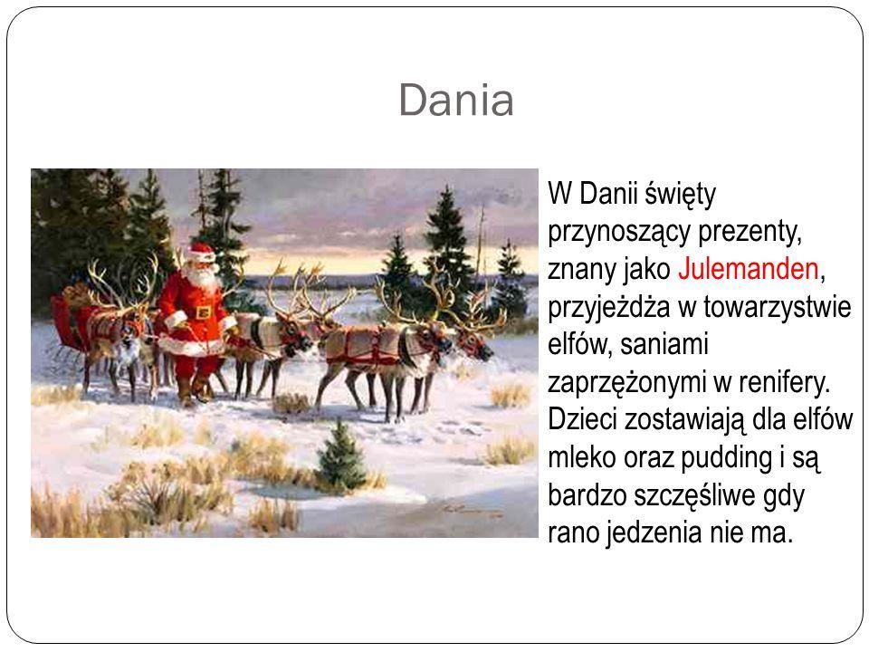Rosja Died Moroz (Dziadek Mróz) występujący zwykle w towarzystwie Snieguroczki (Śnieżynki) jest rosyjskim odpowiednikiem św. Mikołaja. Dziadek Mróz i
