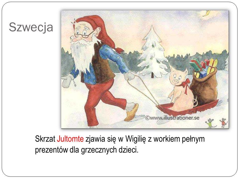 Dania W Danii święty przynoszący prezenty, znany jako Julemanden, przyjeżdża w towarzystwie elfów, saniami zaprzężonymi w renifery. Dzieci zostawiają