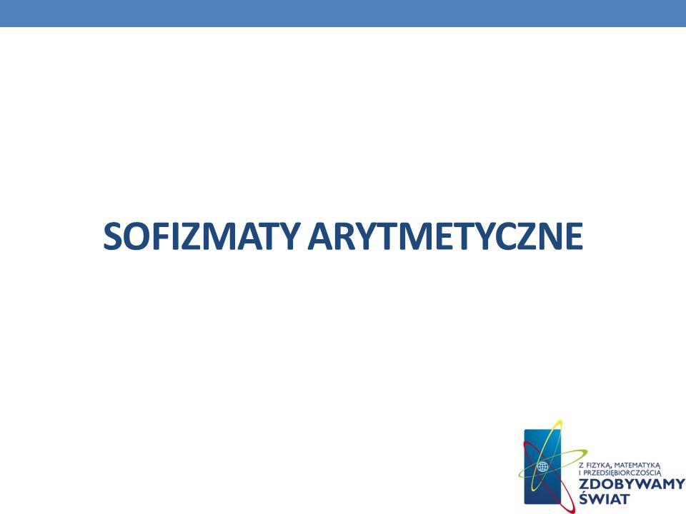 SOFIZMATY ARYTMETYCZNE
