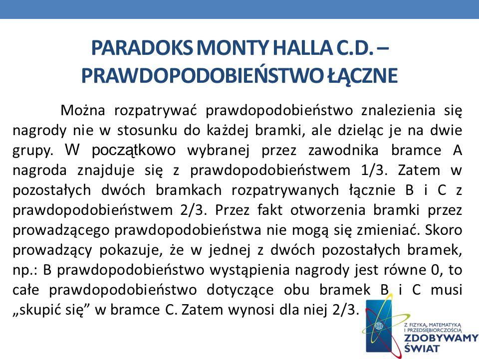PARADOKS MONTY HALLA C.D.